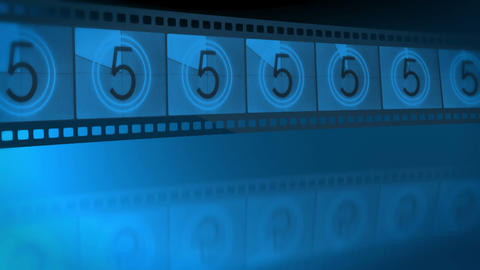 Reel film leader Stock Video Footage
