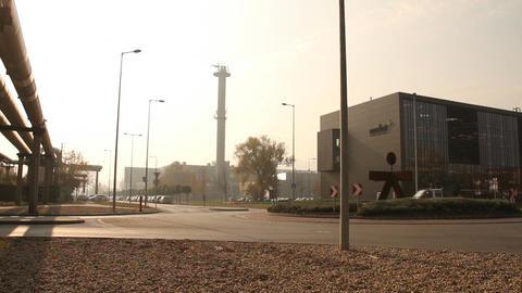 Industrial Suburban Area 01 in haze Footage