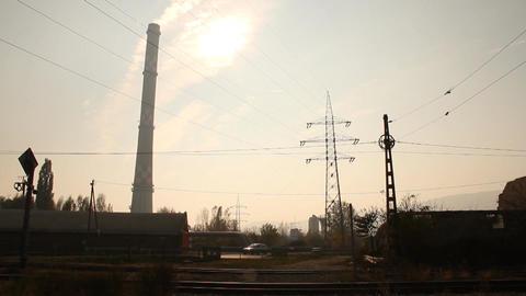 Industrial Suburban Area 09 smog Footage