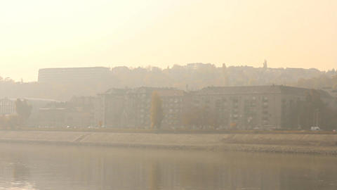 Smog Haze in European City 02 Footage