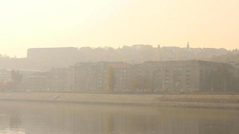 Smog Haze in European City 02 Stock Video Footage