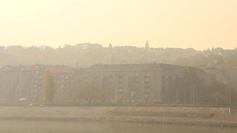 Smog Haze in European City 04 Stock Video Footage