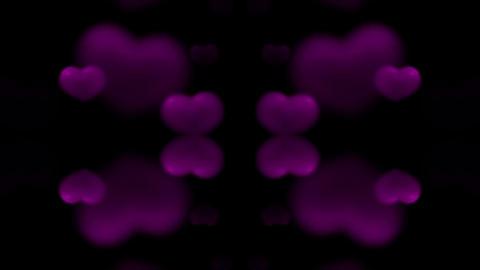 purple heart.wedding,flare,festival,aurora,glow,pulse Stock Video Footage