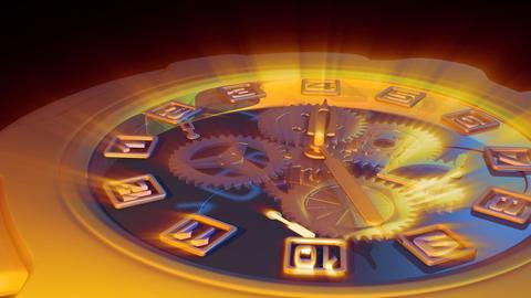 clock countdown Stock Video Footage
