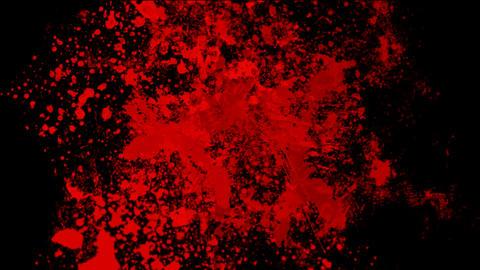 Red ink splash... Stock Video Footage