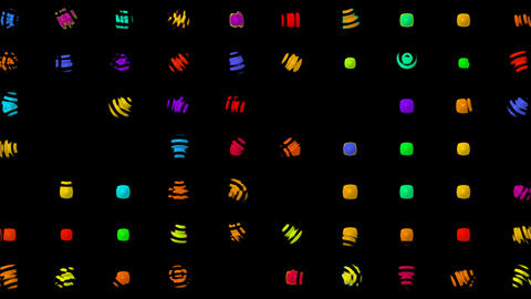 color irregular dots flare... Stock Video Footage