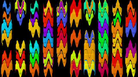 color waveform rhythm... Stock Video Footage