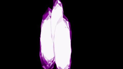 Falling purple large diamonds and gems,broken glass... Stock Video Footage