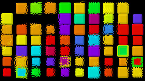 color matrix rectangle and... Stock Video Footage