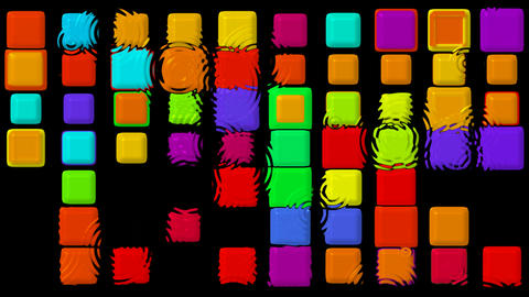 color matrix rectangle and ripple,game,Tetris.mosaics,square,rectangle,drip Animation