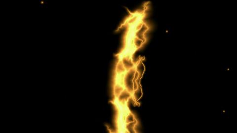 Golden Lightning Streaks.amps,atmospheric,bright,dangerous Stock Video Footage
