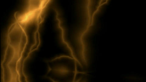 Golden Lightning... Stock Video Footage
