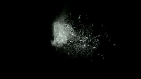 broken glass,splash... Stock Video Footage