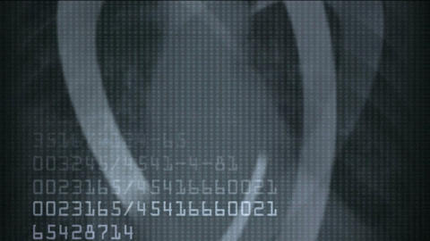 human rib and finger bones scan,tech medical X-ray... Stock Video Footage