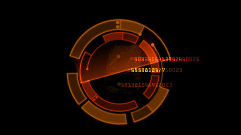 fingerprint scan background,Radar,chip,science,military,weapons,laser,GPS,compass,particle,Design,pa Animation