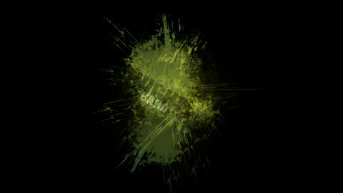 abstract green noise background with number and... Stock Video Footage