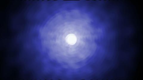 blue nebula with white circle... Stock Video Footage