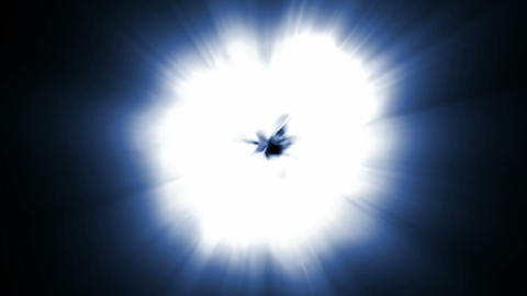 Star explosion,dazzling light generated by nuclear explosion Stock Video Footage