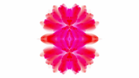 retro pink flower pattern,kaleidoscope,Psychedelic smoke... Stock Video Footage
