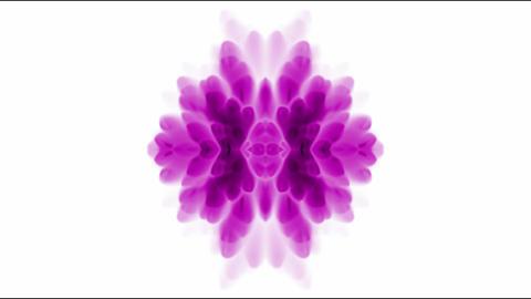 retro purple flower pattern,kaleidoscope,Psychedelic... Stock Video Footage