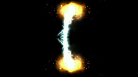Lightning and fireball.electric,electrocute,energy,explosive,flash Animation