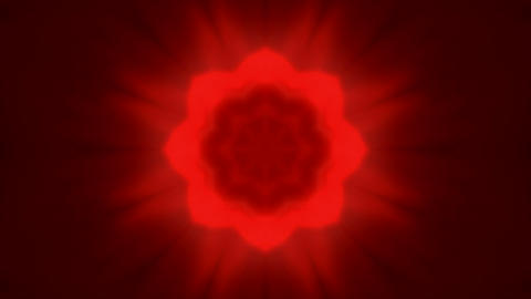 red flare flower pattern,Bright glow... Stock Video Footage