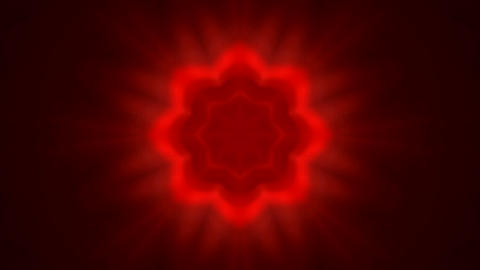 red flare flower pattern,Bright glow light.floral,pattern,kaleidoscope Animation
