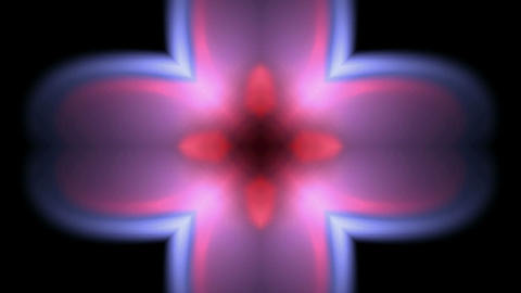 flare flower pattern,Bright cross glow... Stock Video Footage