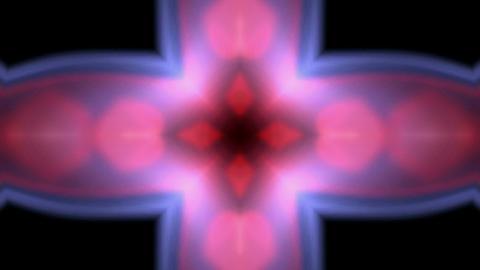 flare flower pattern,Bright cross glow... Stock Video Footage