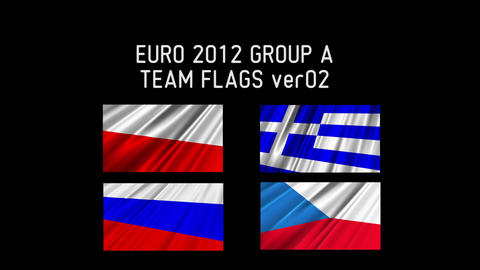 EURO 2012 Group A Flags 02 Stock Video Footage