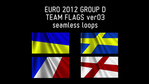 EURO 2012 Group D Flags 03 Stock Video Footage