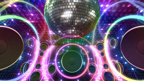Disco Space 3 RBfC1 HD Stock Video Footage