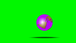 BOUNCING GLOBE Stock Video Footage