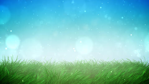 Sunny grass loop Animation
