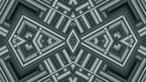 metal pipe Intertwined in 3d space,game entrance... Stock Video Footage