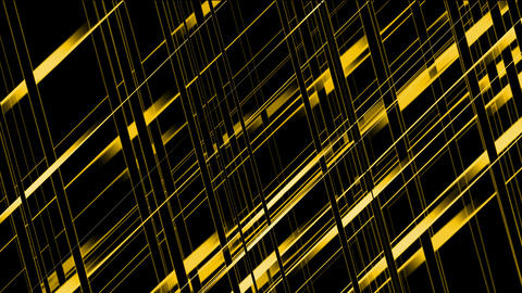 golden metal pipe Intertwined in 3d space.science... Stock Video Footage