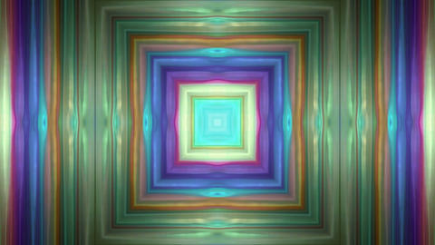 color square metal tunnel,game entrance,software... Stock Video Footage