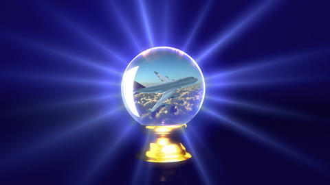 crystal ball future plane Stock Video Footage