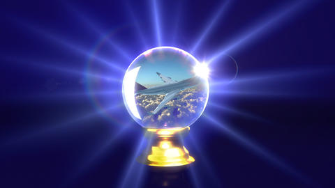 crystal ball future plane Animation