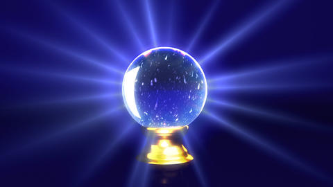crystal ball future snow Stock Video Footage