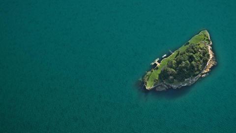 island green ocean Stock Video Footage