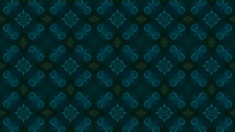 blue flower fancy pattern,kaleidoscope,oriental religion... Stock Video Footage