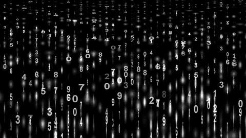 white digital matrix,stock ticker,finance number... Stock Video Footage