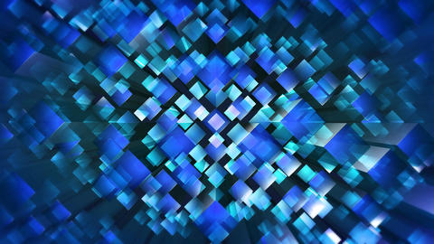 blue square optic Animation