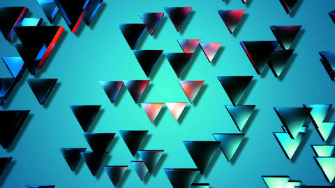 blue triagonal lights Animation
