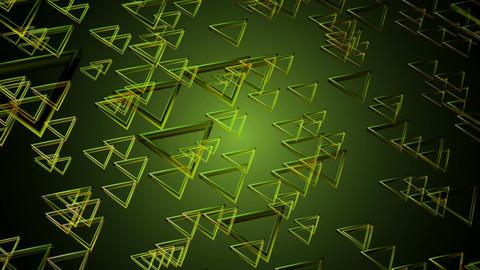 green triagonal glass Animation