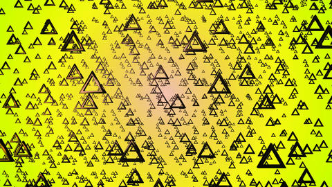 yellow triangle ring Animation