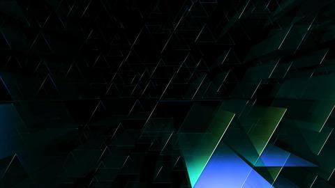 triagonal blue tube Animation