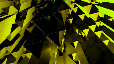 yellow triangle tubes Animation