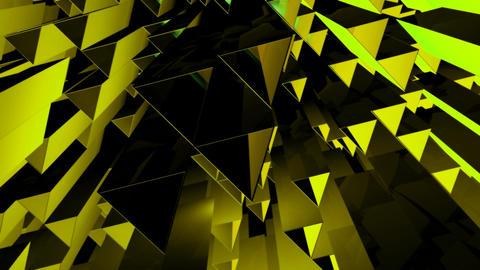yellow triangle tubes Animation